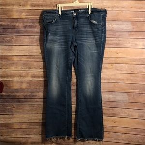 Mossimo Denim Mid Rise Skinny Boot jeans size 16